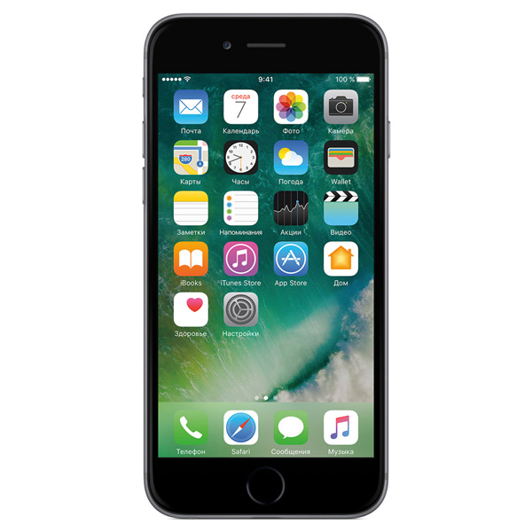 Смартфон Apple iPhone 6s 16GB Space Gray (MN0W2RU/A)